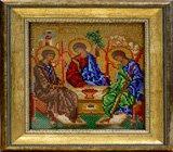 """Оформление вышивки бисером в багет. """"Святая Троица"""" (икона, Радуга бисера, B-167)."""