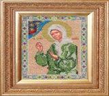 """Оформление вышивки бисером в багет. """"Святая Матрона Московская"""" (икона, Пароди, ик-004)."""