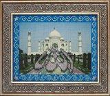 """Оформление вышивки бисером в багет. """"Мечети мира: Тадж-Махал"""" (Вышивальная мозаика, 096РВМ)."""