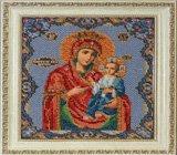 """Оформление вышивки бисером в багет. """"Иверская Богородица"""" (икона, Радуга бисера, B-162)."""