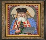 """Оформление вышивки бисером в багет. """"Святитель Лука (Крымский)"""" (икона, Вышиваем бисером, L-84)."""