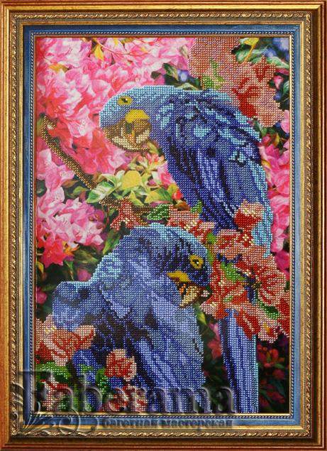 Купить вышивку с попугаем - на сайте 9311761.ru