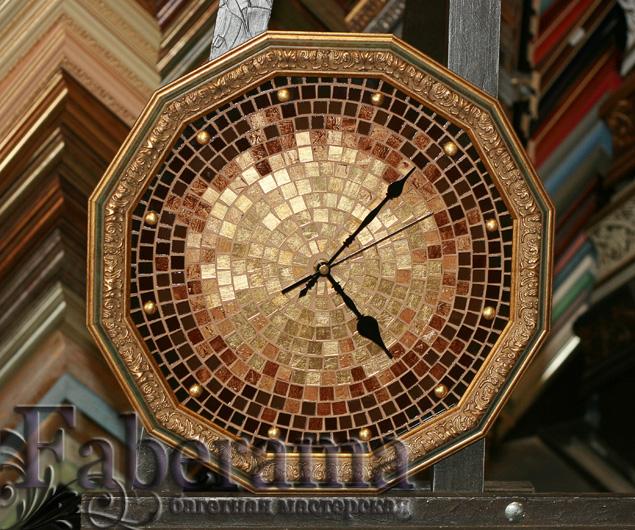 Часы из мозаики